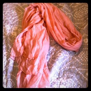 Accessories - Sheer pink scarf